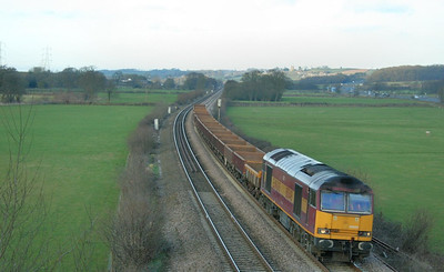 60049 heads west through Tiverton Parkway on the: 6W42 15:53 Westbury to Lipson Junction  21/02/09