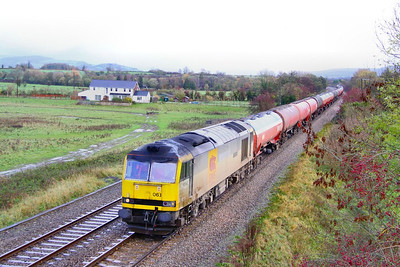 60063 heads south through Cam & Dursley on the: 6B13 05:05 Robeston to Westerleigh  11/11/10