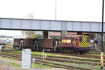 08495 shunting in Eastleigh Yard  26/10/12