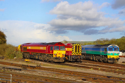 59202, 08633 & 59001 stable in Westbury Yard  21/04/12