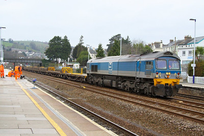 59004 heads north through Totnes to form the: 6W35 09:57 Newton Abbot to Westbury  03/03/13