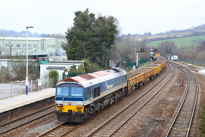 59103 calls at Totnes enroute to Newton Abbot to form the: 7W34 11:00 Newton Abbot to Westbury  03/03/13
