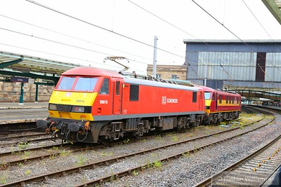 90018 & 90037 arrive into Carlisle light engine on: 0S94 08:45 Crewe Electric to Mossend 17/06/15  Watch the departure video at: https://youtu.be/eL0ctJm7xd0