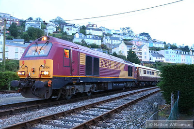 67024 stands in Kingswear ready to work: 1Z82 21:00 Kingswear to Newton Abbot 26/04/14  Watch the video at: http://youtu.be/zkwWcwE8XqM1Z82 21:00 Kingswear to Newton Abbot