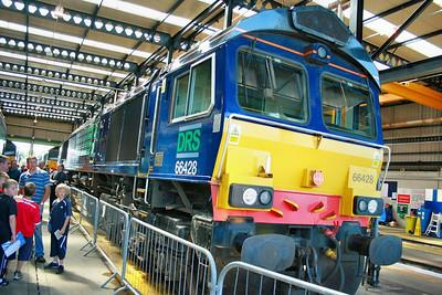 66428 on display in Kingmoor Open Day  11/07/09