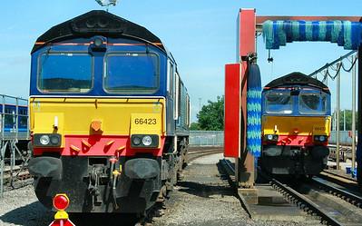 66423 & 66433 on display in Kingmoor Open Day  11/07/09