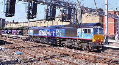 66414 departs Carlisle on the: 4M16 10:39 Grangemouth to Daventry  22/05/10
