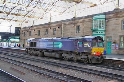 66428 heads north through Carlisle light engine  06/10/10