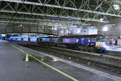 66301 & 66432 arrive into Carlisle on the: 4M48 18:53 Mossend to Daventry  04/12/12
