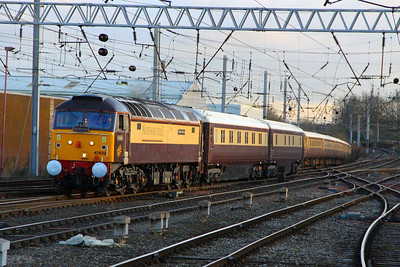 47832 arrives into Carlisle with the Northern Belle working the: 1Z17 11:42 Darlington to Newcastle  05/12/12