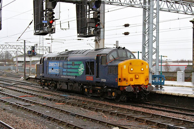 37229 arrives into Carlisle working the: 0Z30 10:55 Kingmoor to Kingmoor via Carnforth  06/12/12