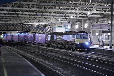 66434 arrives into Carlisle working the: 4M82 15:56 Coatbridge to Daventry  06/12/12
