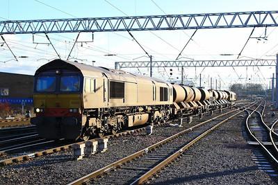 66429 arrives into Carlisle on the: 3J11 08:46 Carlisle Kingmoor to Kingmoor  05/12/12