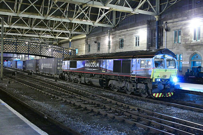 66434 calls at Carlisle working the: 4S44 12:16 Daventry to Coatbridge  05/12/12