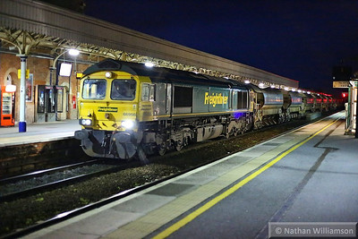 66956 heads north through Taunton with the TRT, forming the: 6X33 17:25 Fairwater to Andover  05/11/13
