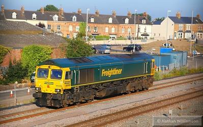 66599 on the Fairwater yard headshunt in Taunton  30/06/15