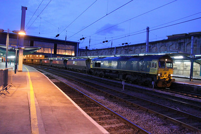 66524 calls at Carlisle on the: 6E73 04:38 Killoch to Ferrybridge 24/11/11