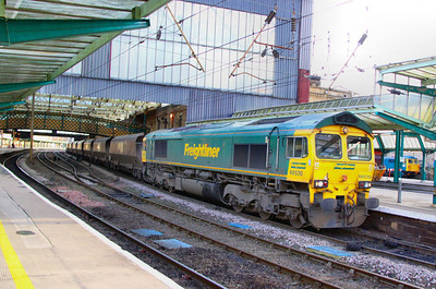 66530 calls at Carlisle on the: 4S70 08:01 Cottam Power Station to Carlisle Yard 24/11/11