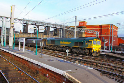 66550 departs Carlisle on the: 6M11 05:55 Hunterston to Fiddlers Ferry 24/11/11