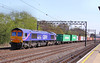 66724 heads north through South Kenton on the:<br /> 4M23 10:59 Felixstowe to Hams Hall<br /> <br /> 22/04/10