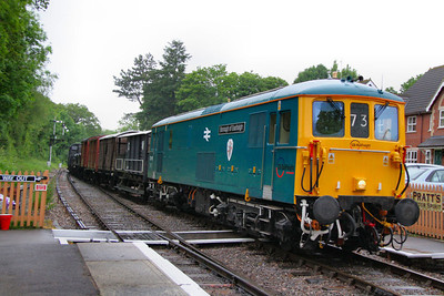 73119 arives into Blue Anchor on a Feight service: 08:00 Minehead to Bishops Lydeard  16/06/12