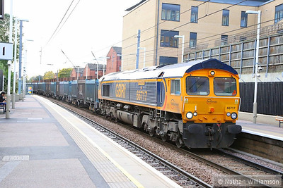 66717 heads east through Finchley Road & Frognal working the: 4E19 11:30 Mountfield to West Burton  07/11/13