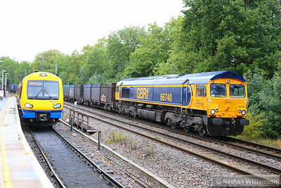 66740 heads east through Gospel Oak on the: 4E19 11:25 Mountfield to West Burton  17/09/13