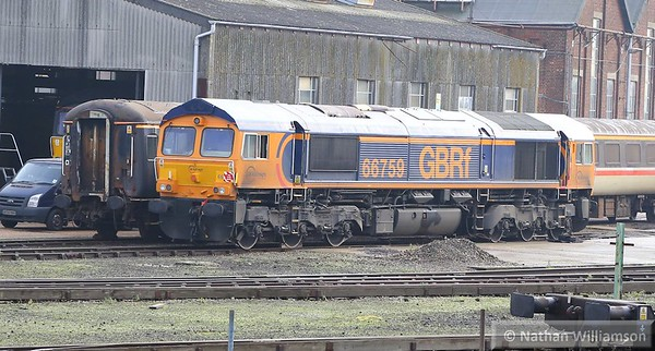 66759 in Eastleigh Works  19/11/14