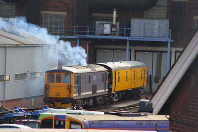 73212 starts its diesel engine in Eastleigh Works  21/10/11