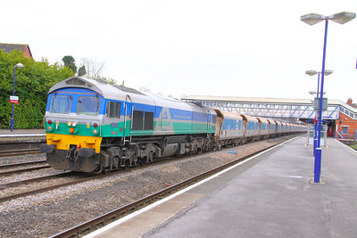 59001 heads east through Newbury with the: 7A17 10:31 Merehead to Acton Yard 22/03/11  View the video at: http://www.youtube.com/watch?v=UvQUuDN3A60