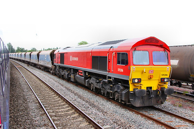 59206 stands in Theale Goods Loop on the: 7A17 10:31 Merehead to Acton Yard  16/05/11