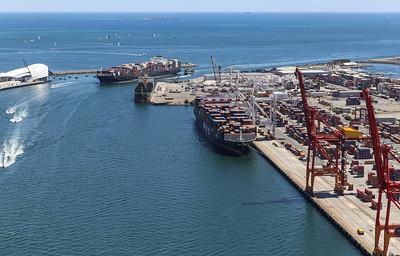 Fremantle Port 1432hrs 110120_Northern Jaguar, Paris Trader, MSC Rachele