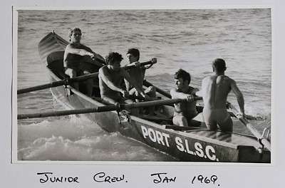 Port SLSC Junior Boat crew 1968/9Steve Connor,John Walker,Ross Goodwin,Greg Kent (sweep)