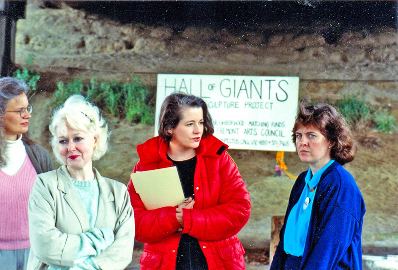"We gave Councilmember Sue Donaldson (in blue) a tour of Fremont, including the park site, in the 1990s  In this picture, from left to right (I think her name was Mary Hanson, Fremont Neighborhood Council), Judy Jurji, Didi Anstett (in red) and Councilmember Sue Donaldson.  Donaldson was very supportive and nice, so I don't know why she wasn't smiling in this particular photo.<br /> <br /> 1990 newspaper article:  <a href=""http://community.seattletimes.nwsource.com/archive/?date=19900930&slug=1095924"">http://community.seattletimes.nwsource.com/archive/?date=19900930&slug=1095924</a>"