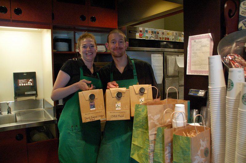 The Starbucks branch next to Fred Meyer generously donated coffee and cookies for the event.