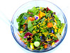 Beckey made this beautiful and delicious salad completely from Hazel Heights P-Patch.
