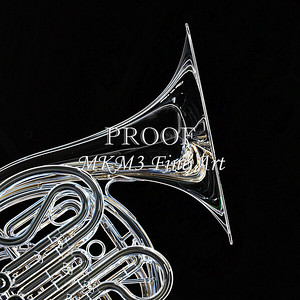 Dark Drawing of French Horn 423.2059