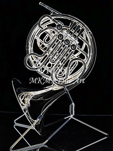 Dark Drawing of French Horn 432.2059