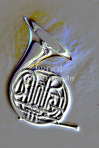 Metal Print French Horn Embossed 2082.25