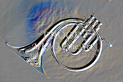 French Horn Embossed Antique 2082.23