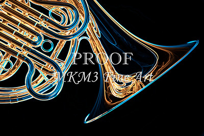 Classic French Horn Drawing Print 2083.14