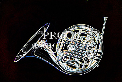 Complete French Horn Drawing Print 2083.30