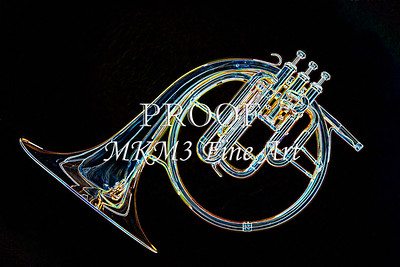 Antique French Horn Drawing 2083.10