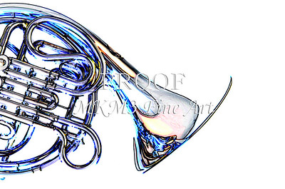 French Horn Bell Watercolor Print 2084.50