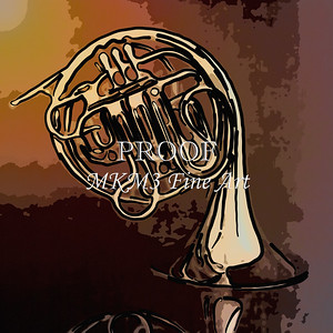 Paintings of French Horn 701.2059