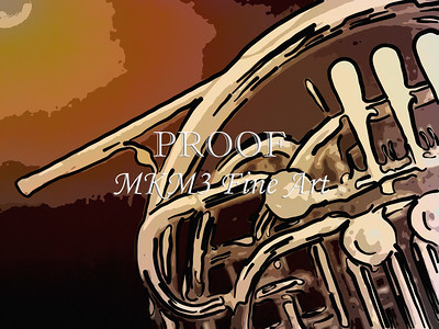 Paintings of French Horn 700.2059