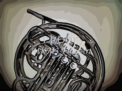 Paintings of French Horn 705.2059