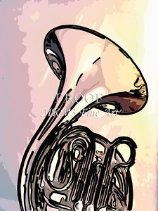 Paintings of French Horn 704.2059