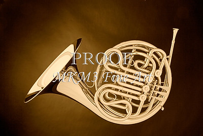 French Horn In Antique Sepia Wall Art 2080.29