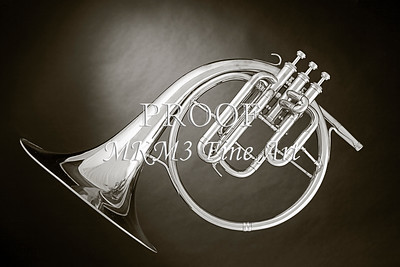 Canvas Art Antique French Horn 2080.22
